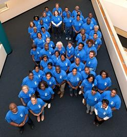 Human Blue Ribbon for Child Abuse Awareness Month in April